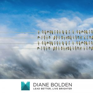 three rows of birds on wire with one bird on its own leading with presence